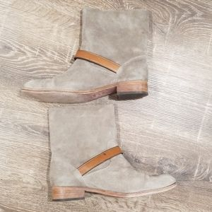 Coach Amy tan suede ankle slouchy ankle boots 9